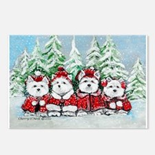 Westie Christmas Postcards (Package of 8)