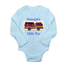 Grandpa's Little Boy Long Sleeve Infant Bodysuit