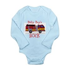 Baby Boy's Rock Long Sleeve Infant Bodysuit
