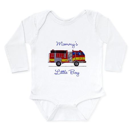 Mommy's little Boy Long Sleeve Infant Bodysuit