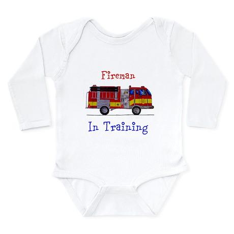 Fireman In Traing Long Sleeve Infant Bodysuit