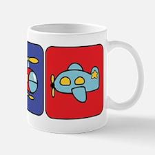 Flying Vehicle Squares Mug
