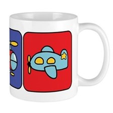 Flying Vehicle Squares Mug