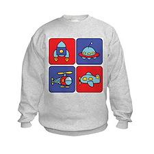 Flying Vehicle Squares Sweatshirt