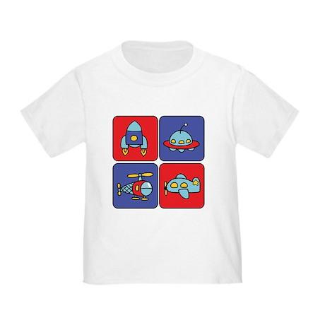 Flying Vehicle Squares Toddler T-Shirt