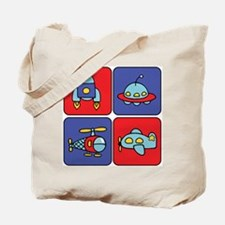 Flying Vehicle Squares Tote Bag