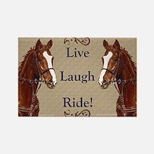 Live! Laugh! Ride! Horse Rectangle Magnet