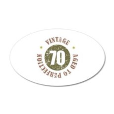 70th Vintage birthday 35x21 Oval Wall Decal