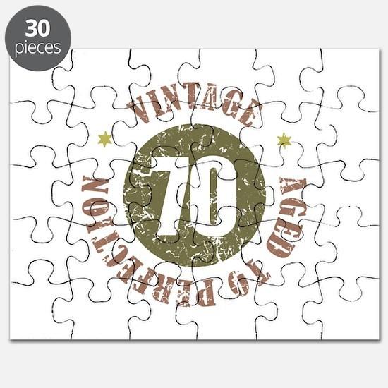 70th Vintage birthday Puzzle