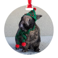 Bunny Holiday Ornament Ornament