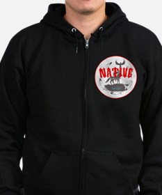 Native American for Life Zip Hoodie