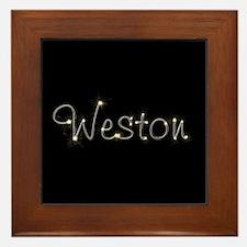 Weston Spark Framed Tile