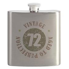 72nd Vintage birthday Flask
