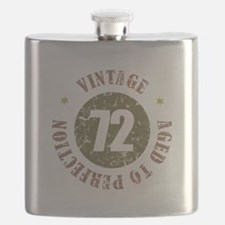 72nd Vintage birthday Flask