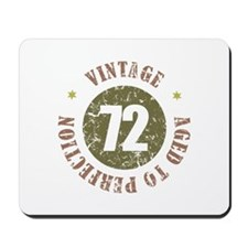 72nd Vintage birthday Mousepad