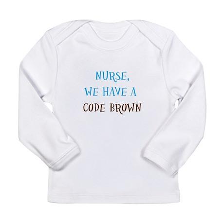 CodeBrownNurse.psd Long Sleeve Infant T-Shirt