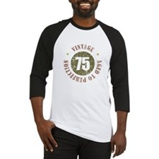 75th Vintage birthday Baseball Jersey