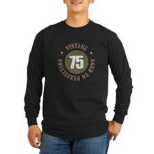 75th Vintage birthday T