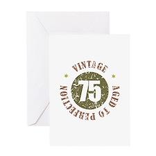 75th Vintage birthday Greeting Card