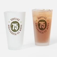 75th Vintage birthday Drinking Glass