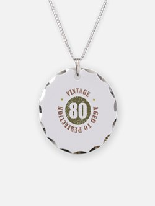 80th Vintage birthday Necklace