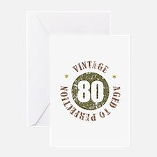 80th Vintage birthday Greeting Card