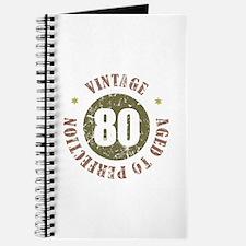80th Vintage birthday Journal