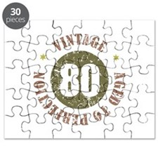 80th Vintage birthday Puzzle