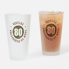 80th Vintage birthday Drinking Glass