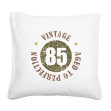 85th Vintage birthday Square Canvas Pillow