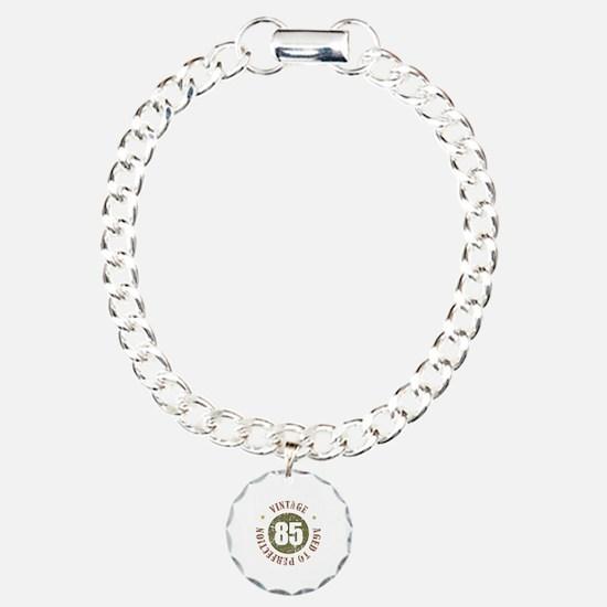 85th Vintage birthday Charm Bracelet, One Charm
