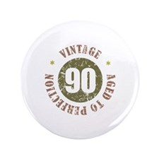 """90th Vintage birthday 3.5"""" Button (100 pack)"""