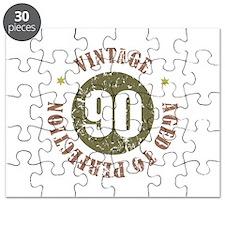 90th Vintage birthday Puzzle