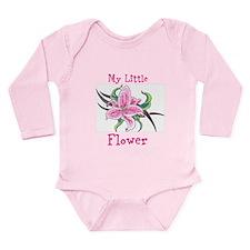 My Little Flower Long Sleeve Infant Bodysuit