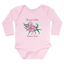 Mommy's Little Flower Long Sleeve Infant Bodysuit
