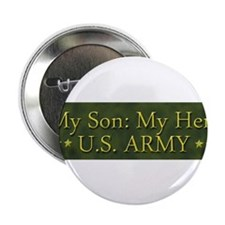"""My Son: My Hero U.S. ARMY 2.25"""" Button (10 pack)"""