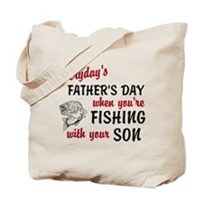 Fishing withh Your Son Tote Bag