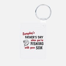Fishing withh Your Son Aluminum Photo Keychain