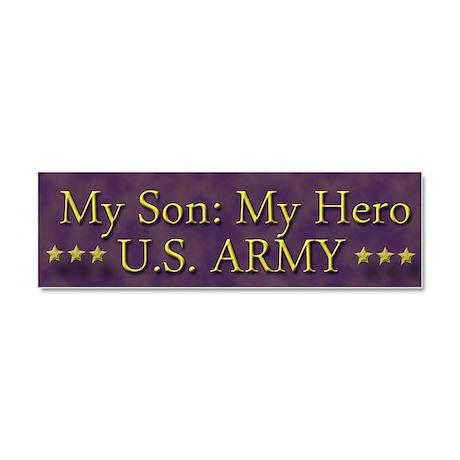 My Son: My Hero Car Magnet 10 x 3
