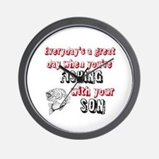 Fishing with Your Son Wall Clock