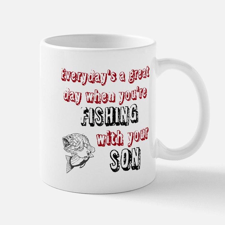 fishing dad coffee mugs fishing dad travel mugs cafepress. Black Bedroom Furniture Sets. Home Design Ideas