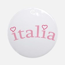 """""""Italia with Hearts"""" Ornament (Round)"""