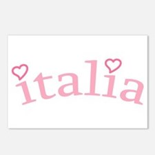 """""""Italia with Hearts"""" Postcards (Package of 8)"""