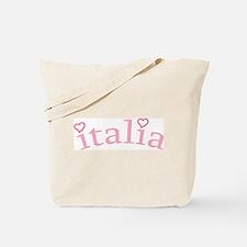 """Italia with Hearts"" Tote Bag"