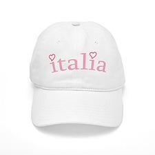 """""""Italia with Hearts"""" Baseball Cap"""