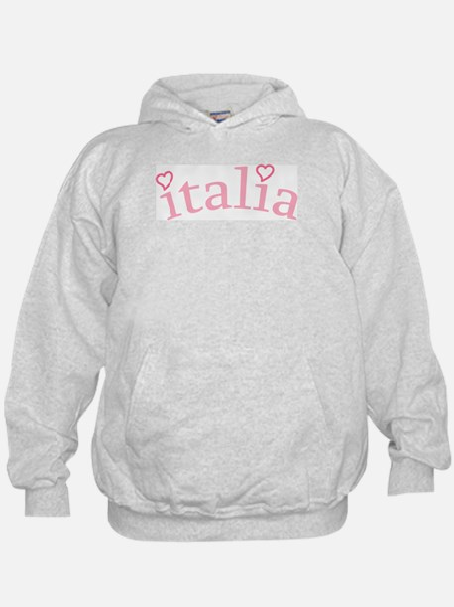 """Italia with Hearts"" Hoodie"