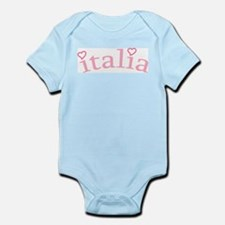 """Italia with Hearts"" Infant Bodysuit"