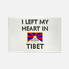 I Left My Heart In Tibet Rectangle Magnet