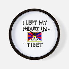 I Left My Heart In Tibet Wall Clock