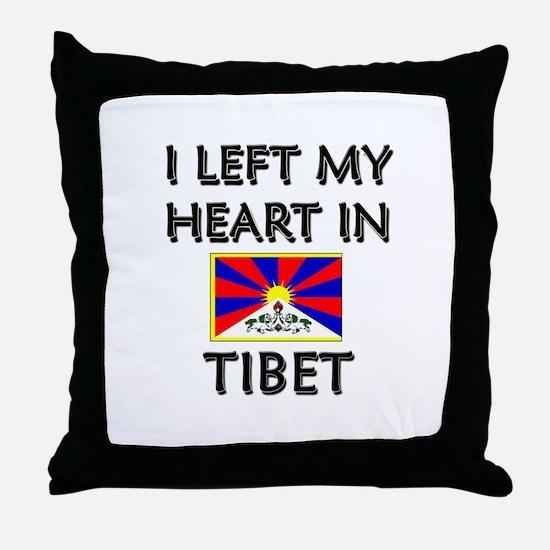 I Left My Heart In Tibet Throw Pillow